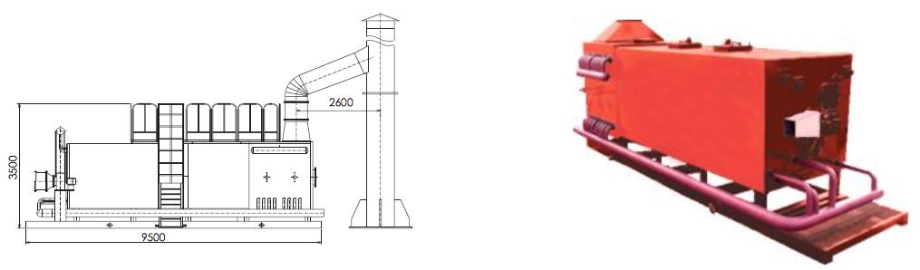 Печь автоматизированная нефтенагревательная ПТ-4-64Ж