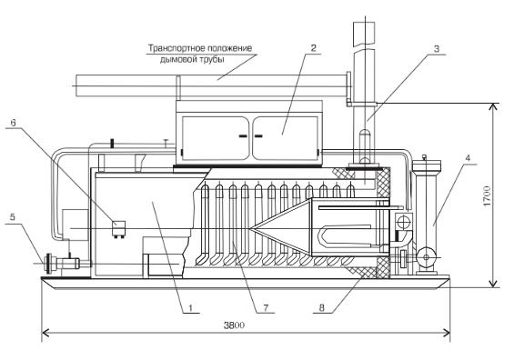 Схема нагревателя устьевого НУС-0,1