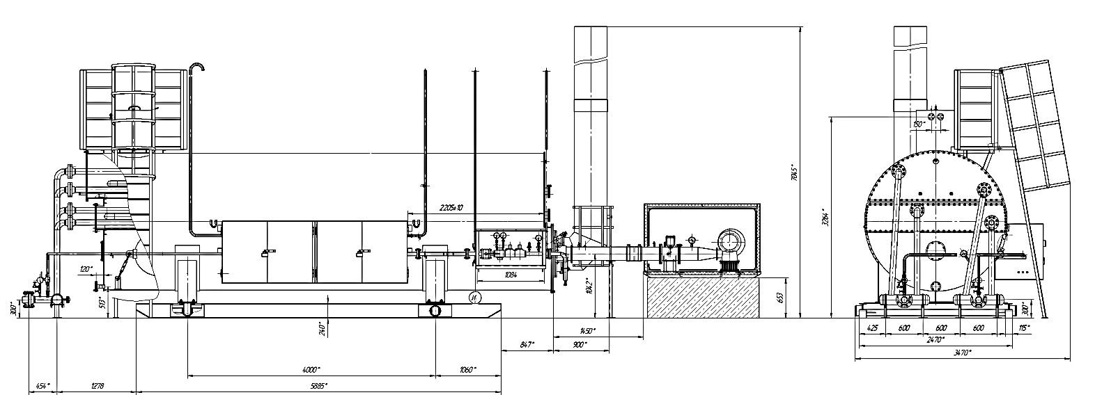 Подогреватель блочный с промежуточным теплоносителем ПБТ-1,6МВ