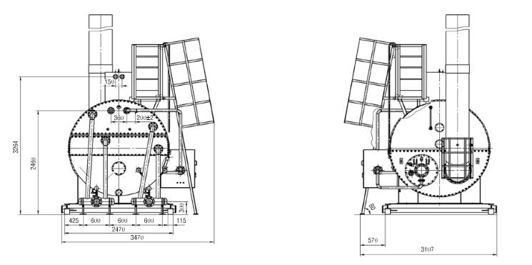 Подогреватель блочный с промежуточным теплоносителем ПБТ-2