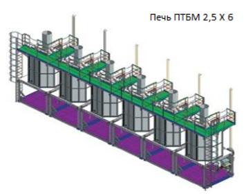 Печи трубчатые блочные модульные ПТМБ