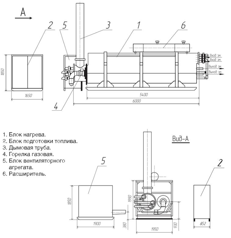 Подогреватель нефти с комбинированным нагревом ПНК2