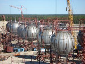Производство шаровых резервуаров